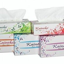 Скатерти и салфетки - Салфетки бумажные 2-х слойные, Kaineko Цветы/Волна, 200шт/коробка (5/60), 0