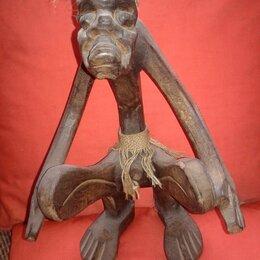 Статуэтки и фигурки - Статуэтка абориген асмат певец, дерево албезия, индонезия, 0
