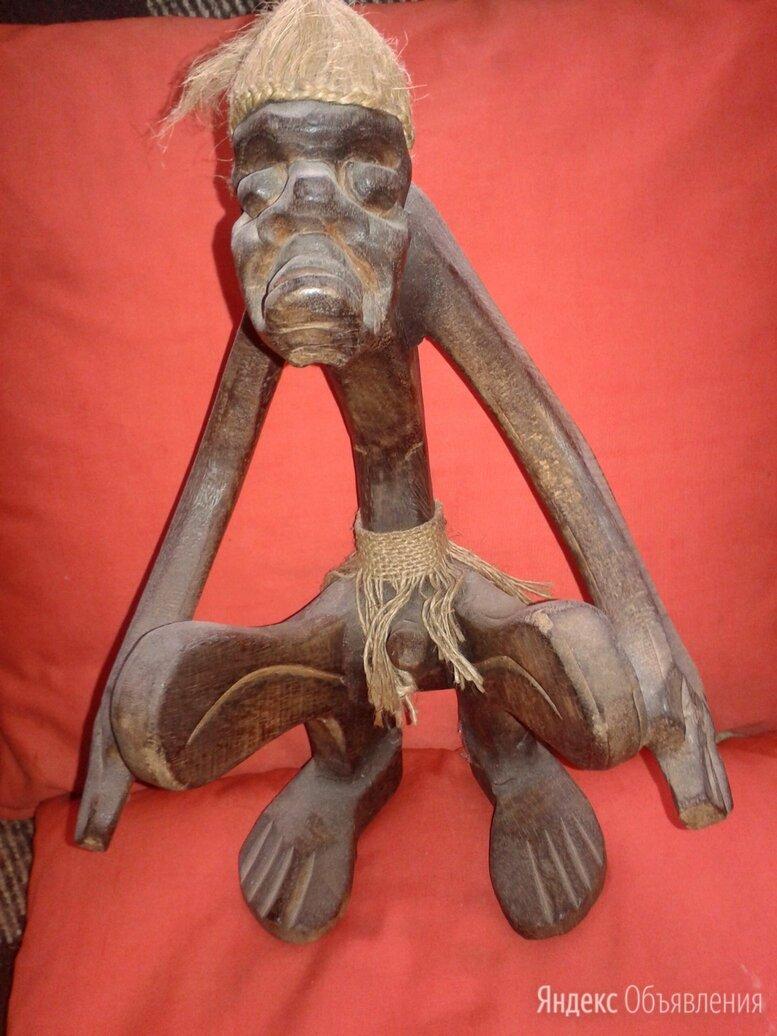 Статуэтка абориген асмат певец, дерево албезия, индонезия по цене 7500₽ - Статуэтки и фигурки, фото 0