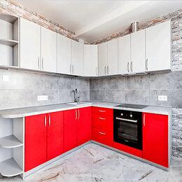 Мебель для кухни - Кухня угловая красно-белая, 0