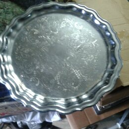 Посуда - Поднос кольчугинский мельхиор, 0