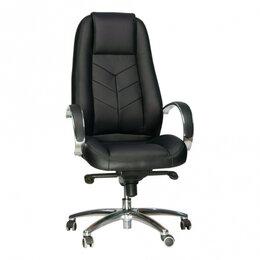 Компьютерные и письменные столы - Кресло Everprof Drift M Кожа Черный, 0