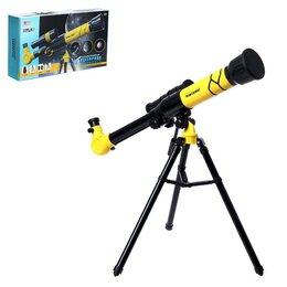 Детские микроскопы и телескопы - Телескоп детский 'Юный астроном', с держателем для телефона, цвета МИКС, 0