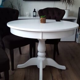 Столы и столики - Стол круглый из массива, 0