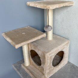 Когтеточки и комплексы  - Игровой комплекс для кошек с домиком и когтеточкой, 0
