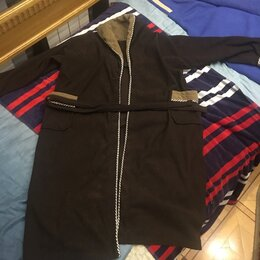 Домашняя одежда - Халат мужской большой длинный тёплый, 0