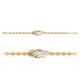 Браслеты - Браслет из золота с фианитом Дельта, 0