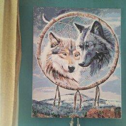 Картины, постеры, гобелены, панно - Картина по номерам ловец снов волки, 0