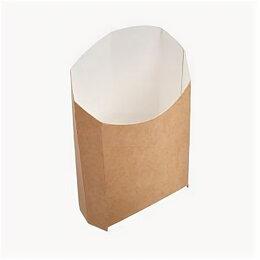 Упаковочное оборудование - Упаковка бум. для картоф. фри 105x50x110мм крафт…, 0