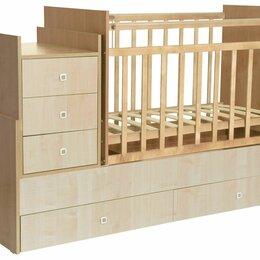 Кроватки - Кроватка фея 1200 (трансформер), поперечный маятник с ортопедическим матрасом. , 0