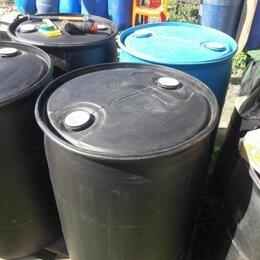 Бочки - Бочка пластиковая черная 227 литров чистая , 0