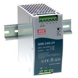 Электроустановочные изделия - Блок питания mean well sdr-240-24 24в 10а 240вт, 0