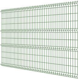 Заборы, ворота и элементы - Панель MEDIUM 2,03х2,50м RAL6005 Зеленый Мох сварная 3Д сетка гиттер, 0
