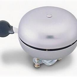 Развивающие игрушки - Звонок велосипедный детский, сталь, увеличенный, D=60мм, громкий звук, серебри, 0