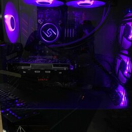 Настольные компьютеры - Игровой фулл пк i7, 1050ti, 32 озу, монитор, клава, 0
