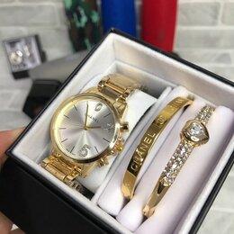 Наручные часы - Женский набор часов золотые, 0