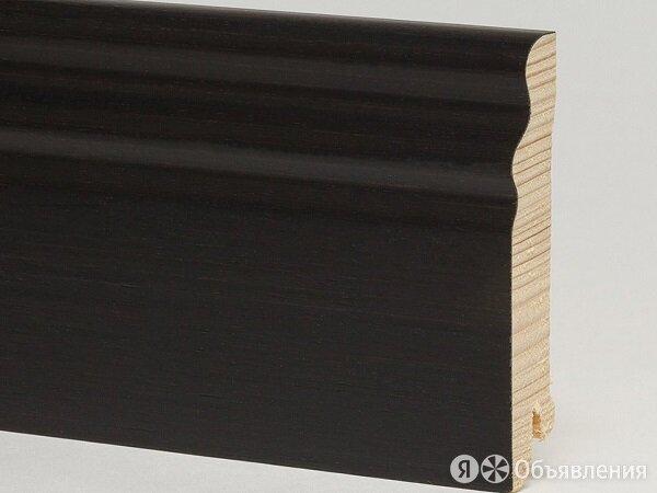 Плинтус натуральный шпон Pedross Черный Матовый SEG 100 95х15х2500 мм по цене 1417₽ - Керамическая плитка, фото 0