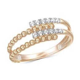 Кольца и перстни - Кольцо с 12 бриллиантами из красного золота, 0
