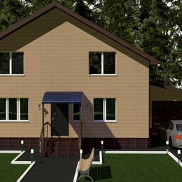 Готовые проекты, методики, технологии - Проект двухэтажного дома с гаражем 184 м2, 0
