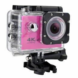Видеокамеры - Action камера розовая, 0