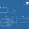 """Мойка врезная """"Ulgran U-107"""" Белый по цене 5886₽ - Кухонные мойки, фото 2"""