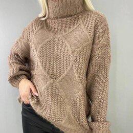 Свитеры и кардиганы - Женский свитер с горлом р-ры 44-60, 0