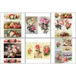 Декупаж - Набор декупажных карт 6 шт 'Винтажные розы 1', 0