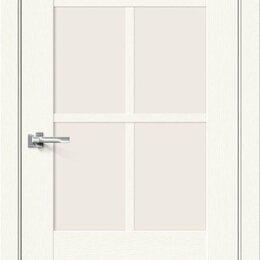 Входные двери - Межкомнатная дверь с экошпоном Прима-13.0.1 White Wood   Magic Fog, 0