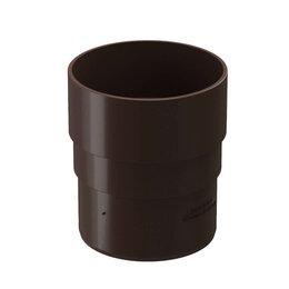 Кровля и водосток - Муфта соединительная водостока Дёке Premium RAL8017 Коричневый Шоколад, 0