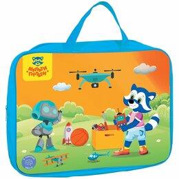 Рюкзаки, ранцы, сумки - Папка - сумка  А4  на молнии Мульти-пульти. Для мальчиков  (с ручками)  полиэсте, 0