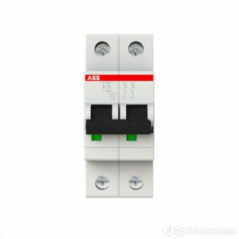 Двухполюсной автоматический выключатель ABB S202 по цене 1675₽ - Концевые, позиционные и шарнирные выключатели, фото 0