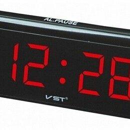 Часы настольные и каминные - Часы настольные VST 730 черный/красный, 0