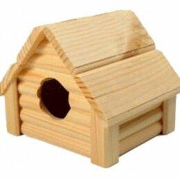 Игрушки и декор  - Дом  Изба  для мелких грызунов  И-221, 0