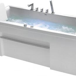 Гидромассажеры - Гидромассажная ванна Gemy G9076 B (1770x810x600) хромотерапия, смеситель, под..., 0