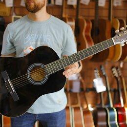 Акустические и классические гитары - Акустическая гитара черная Colombo LF - 3801 / BK, 0
