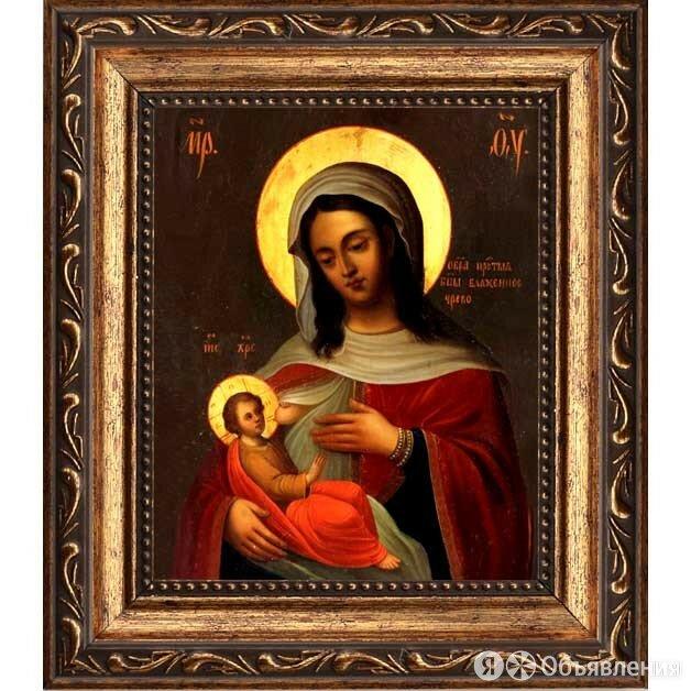 Блаженное Чрево. Барловская икона Божьей Матери на холсте. по цене 2090₽ - Картины, постеры, гобелены, панно, фото 0