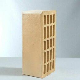 Кирпич - Кирпич лицевой керамический утолщенный пустотелый Светло-желтый  , 0