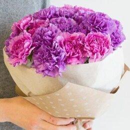 Цветы, букеты, композиции - Сиреневые гвоздики букет, 0