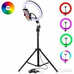 Осветительное оборудование - Кольцевая лампа m26 rgb на настольной треноге, 0