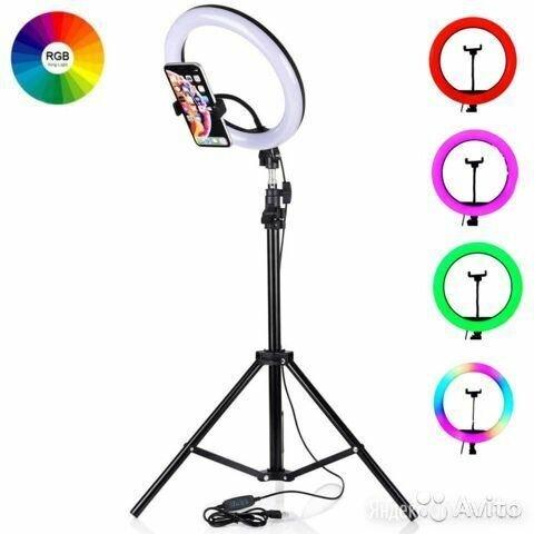 Кольцевая лампа m26 rgb на настольной треноге по цене 1200₽ - Осветительное оборудование, фото 0