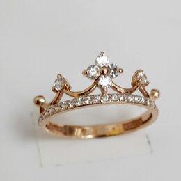 Кольца и перстни - Золотое кольцо Корона 17,5 размер, 0