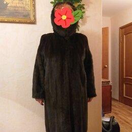 Шубы - Шуба норковаяс капюшоном, 0