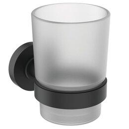 Одноразовая посуда - Стакан с держателем Ideal Standard IOM A9120XG крепеж, черный матовый/стекло ..., 0