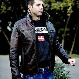 Куртки - Куртка кожзам мужская зимняя, 0