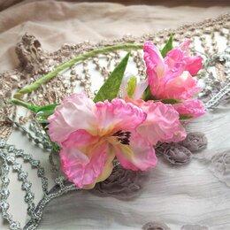 Украшения для девочек - Ободок розовый гладиолус, цветы, 0