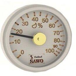 Датчики температуры, влажности и заморозки - Гигрометр, круглый с гравировкой, Осина, 102-НA, 0