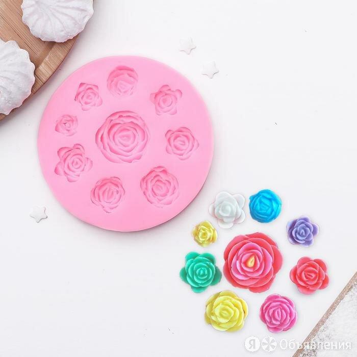 Молд силиконовый «Круговорот роз», 9,5 см, цвет МИКС по цене 630₽ - Продукты, фото 0
