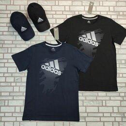 Футболки и майки - Мужская футболка Адидас синяя черная, 0