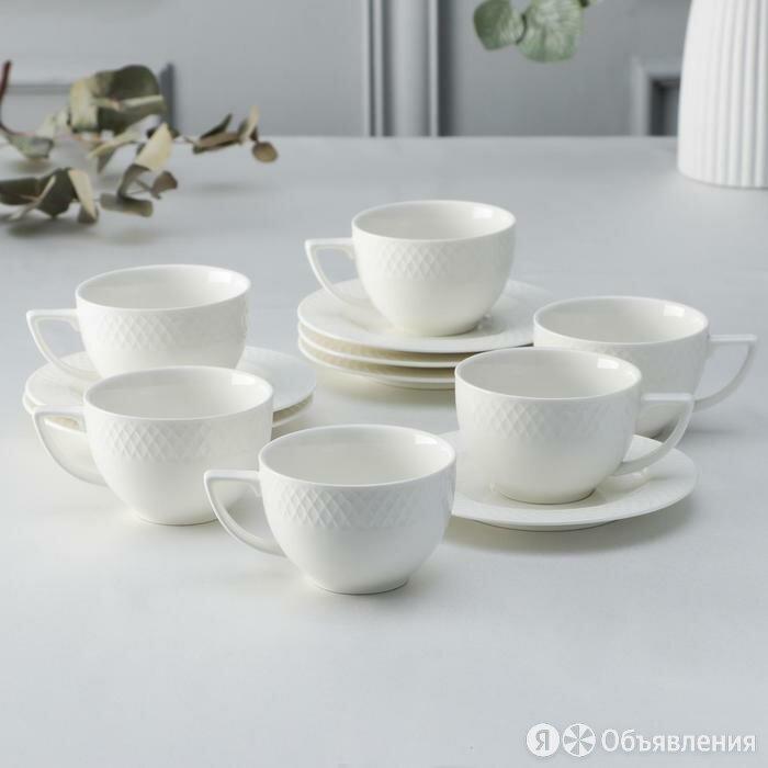Набор чайный 'Юлия Высоцкая', на 6 персон, 12 предметов 6 чашек 200 мл, 6 блю... по цене 3722₽ - Кружки, блюдца и пары, фото 0