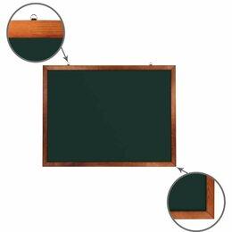Доски - Доска для мела магнитная 90х120 см, зеленая,…, 0